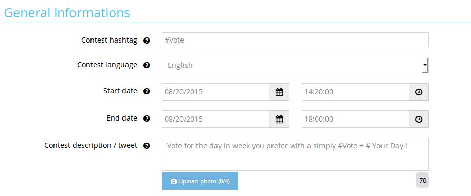 vote form