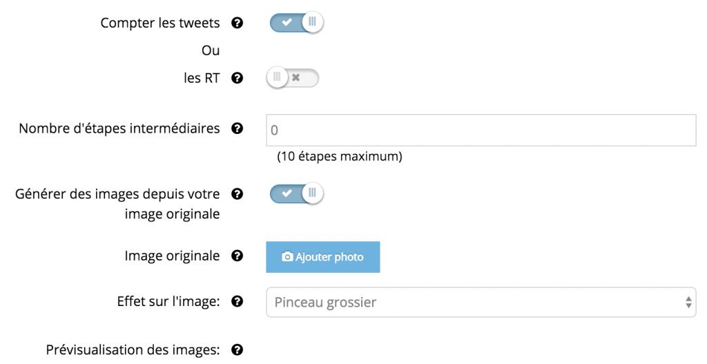 Configuration Jeu de piste sur Twitter