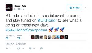 new Honor smartphone release