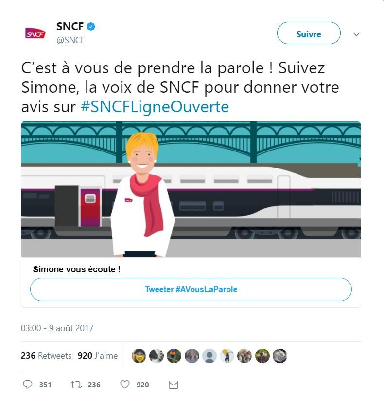 SNCF Ligne ouverte : « La parole est au client »