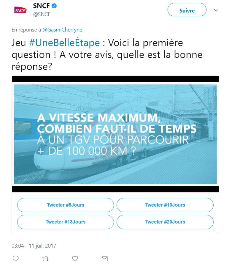 Image de la première question SNCF : vitesse d'un TGV