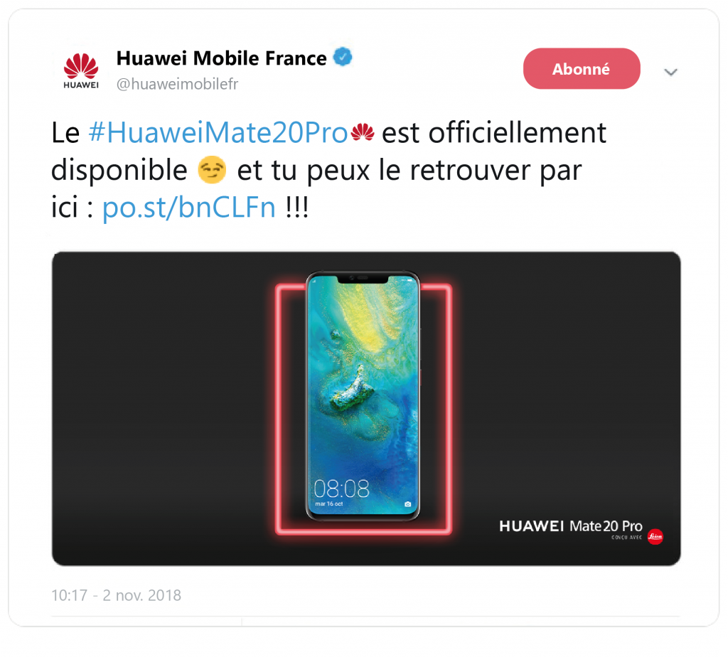 Notification huawei