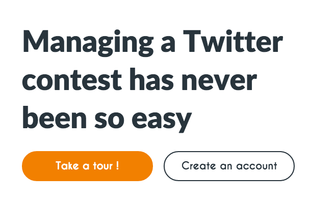 Organize a Twitter contest only in a few clicks !